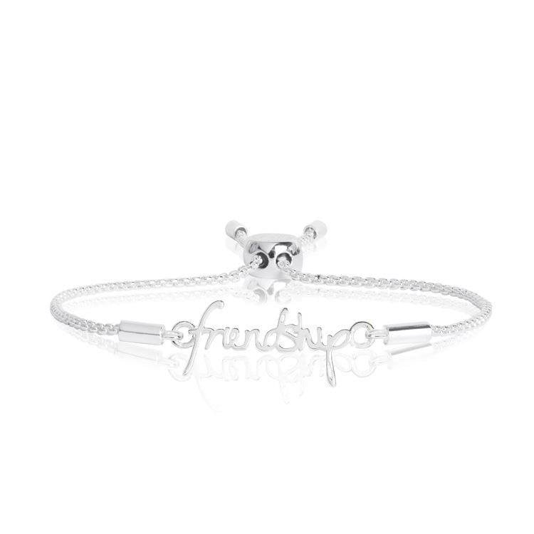 Sentiment Message Friendship Silver Bracelet
