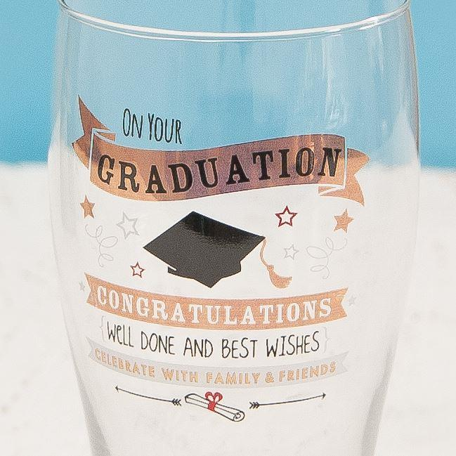Signography Graduation Pint Glass