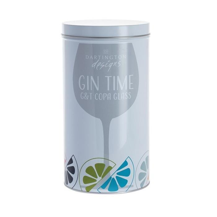 Gine Time It's Gin O'Clock Glass