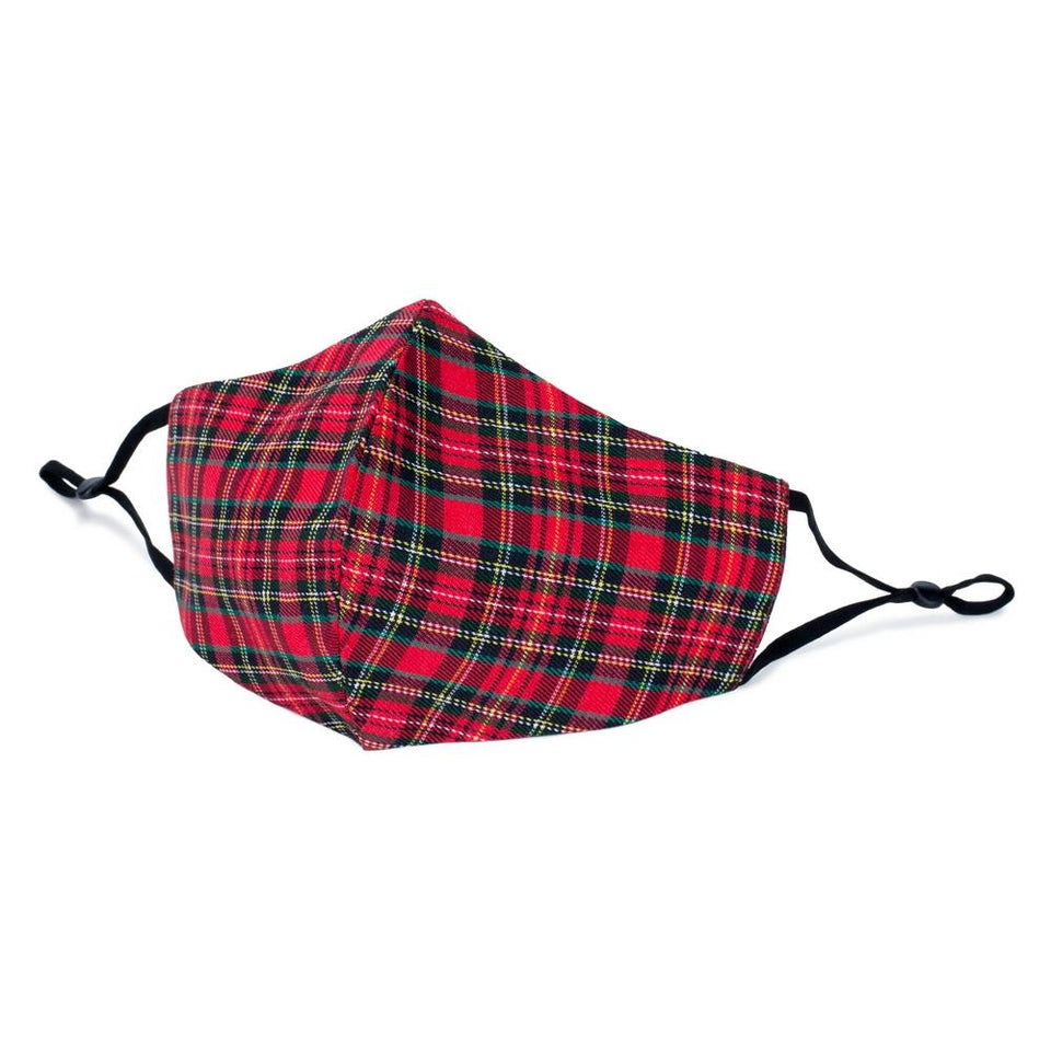 Tartan Red Cotton Face Mask