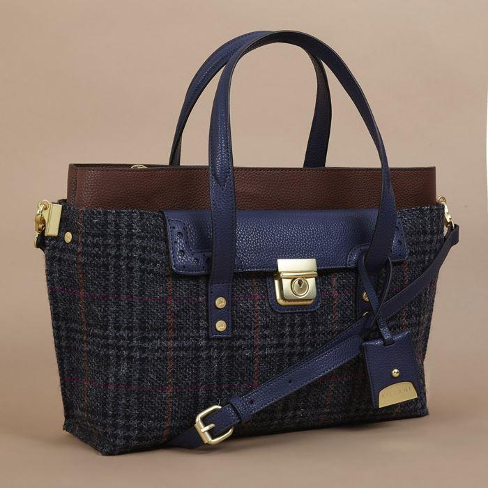 Rodel Harris Tweed Lock Tote Bag | Ness