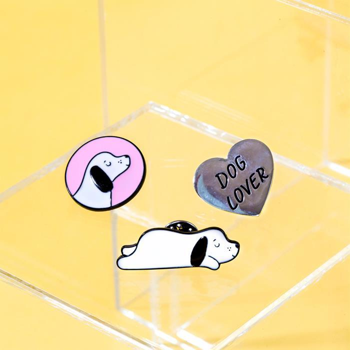 Barney The Dog Pin Badges | Set of 3