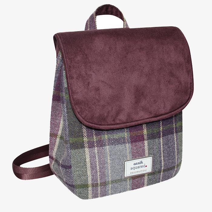 Purple Quartz Tweed Backpack