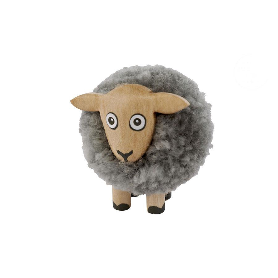 Grey Pom Pom Sheep Decoration