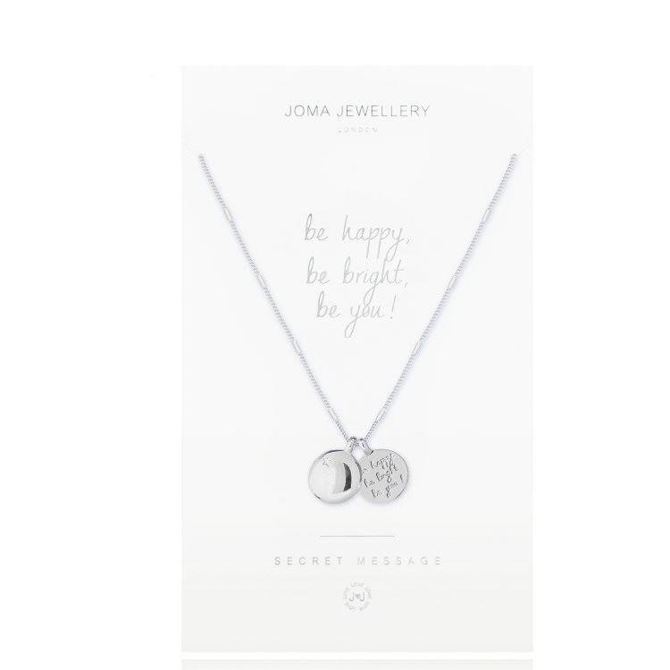 Be Happy Secret Message Necklace