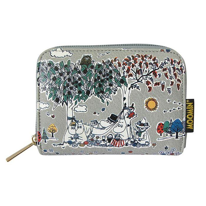 Moomin Wallet with Grey Meadow Print