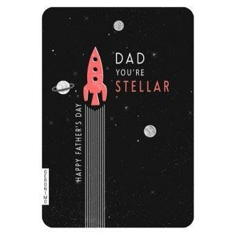 Dad You're Stellar Fathers Day Card