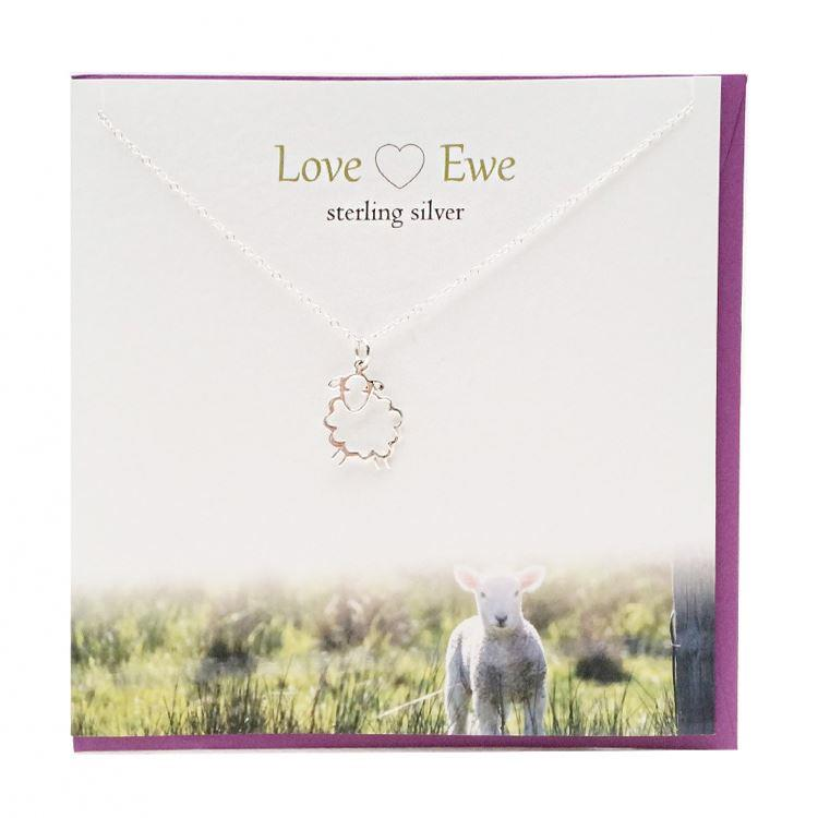 Silver Love Ewe Pendant Necklace