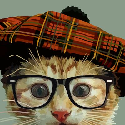 Cat, Hat and Glasses Card