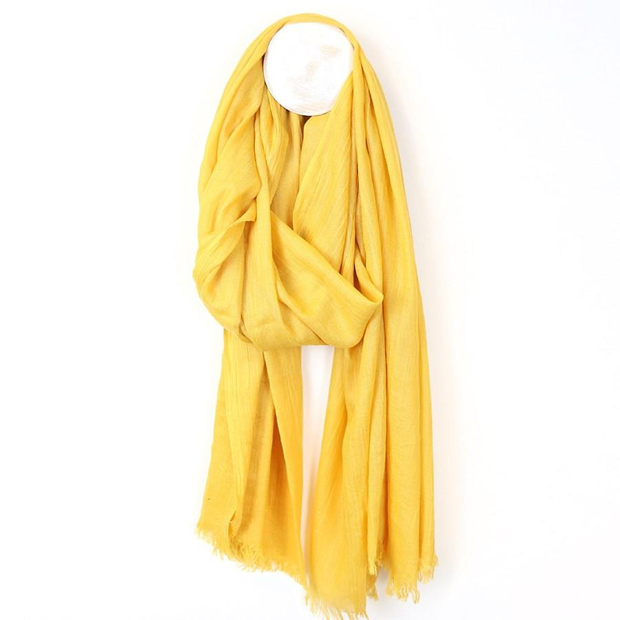 Soft Yellow Viscose Scarf