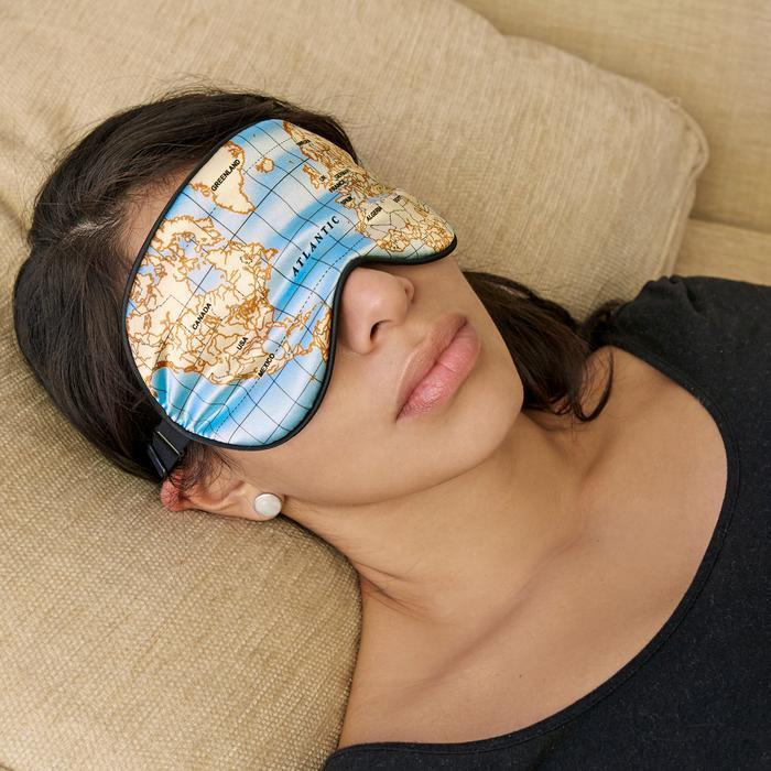 Ultra Soft World Map Sleep Mask