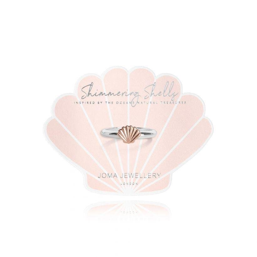 Shimmering Shell Ring | Silver& Rose Gold