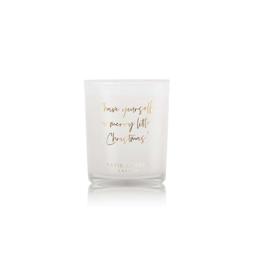 Merry Little Christmas Gold Shimmer Votive Candle