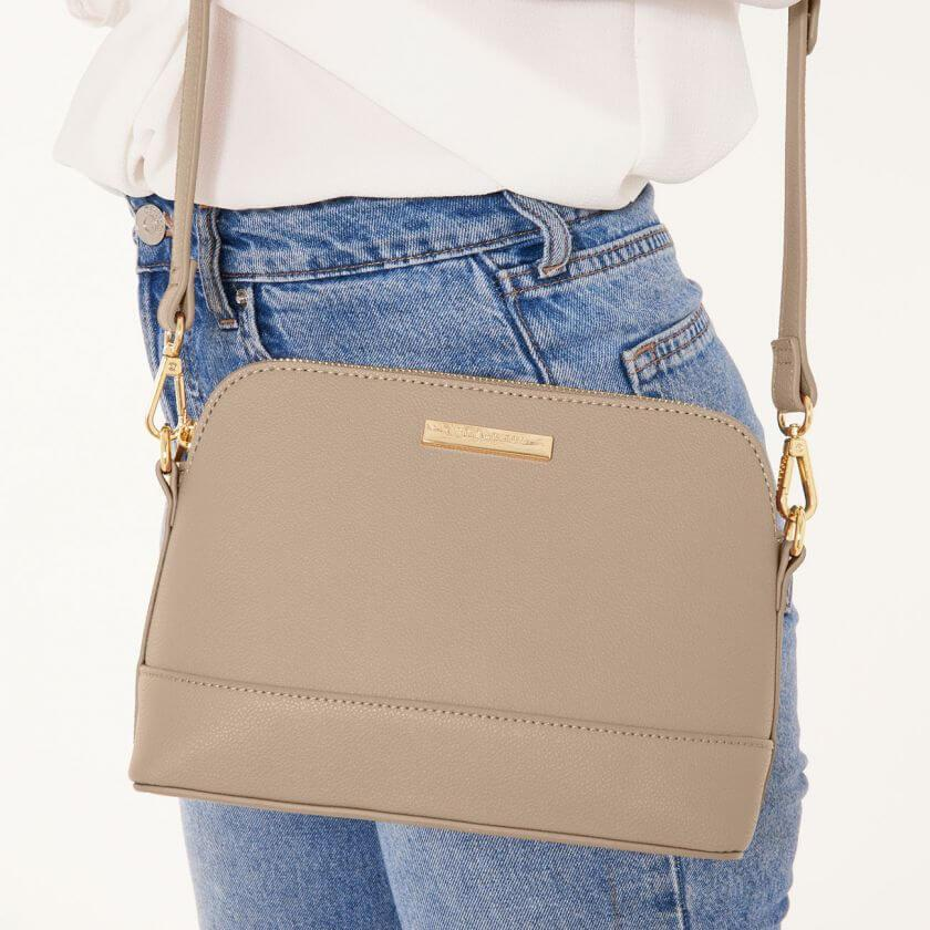 Harper Cross Body Bag in Taupe