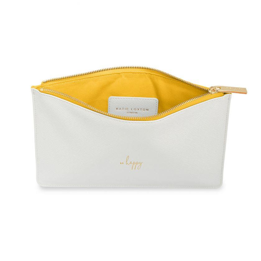 Be Happy White Colour Pop Perfect Pouch