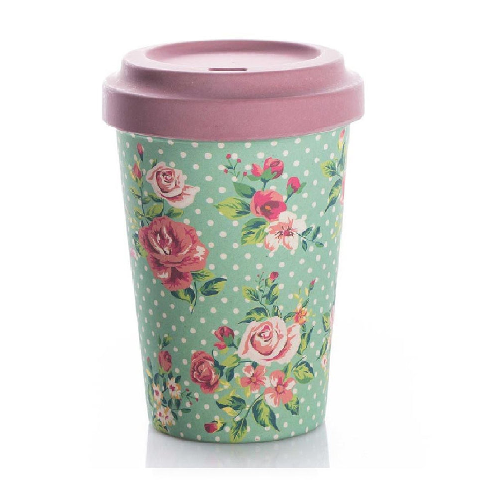 Vintage Roses Bamboo Travel Cup
