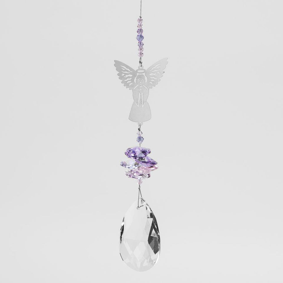 Crystal Angel Metal Hanging Decoration