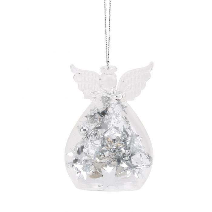Light Up Silver Angel Ornament