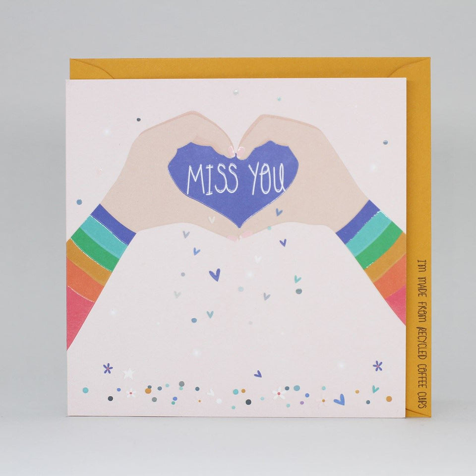 Miss You Heart Card