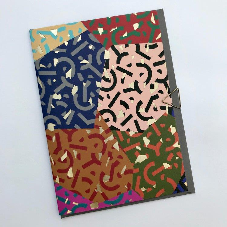 Abstract Colourful Double Print Card