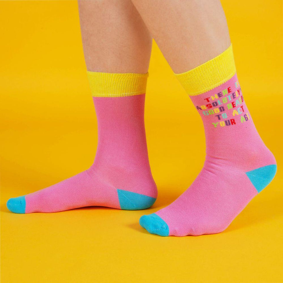 Oh Happy Day Act Your Age Men's Socks