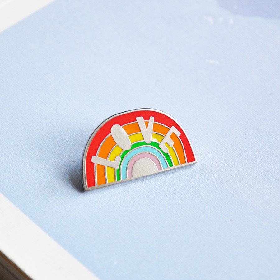 Love Rainbow Enamel Pin