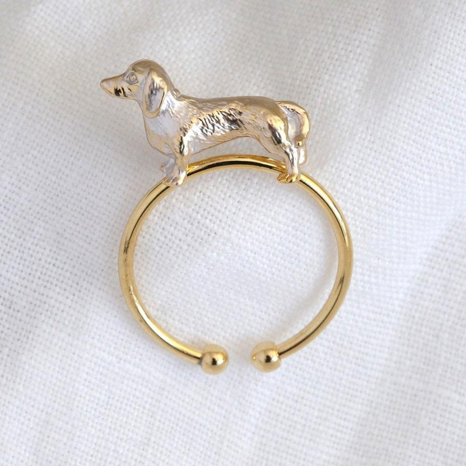 3D Sausage Dog Ring