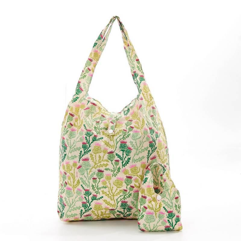 Beige Thistle Foldable Shopper