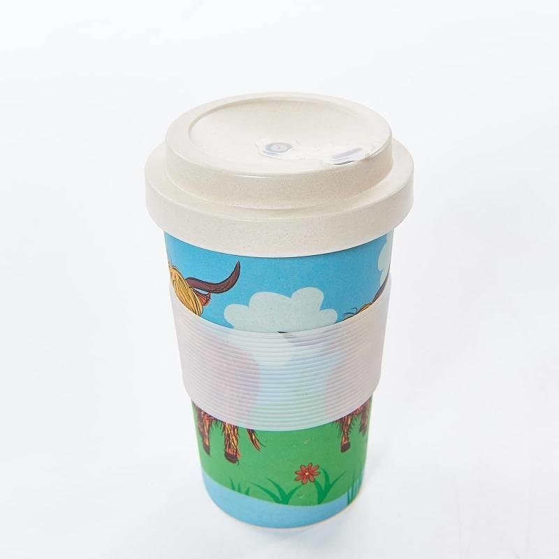 Highland Cow Bamboo Travel Cup Mug