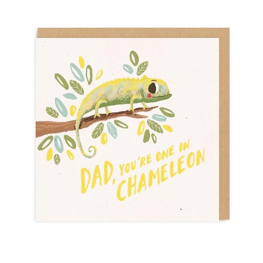 Dad Chameleon Dad Square Greeting Card