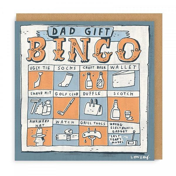 Dad Gifts Bingo Square Greeting Card