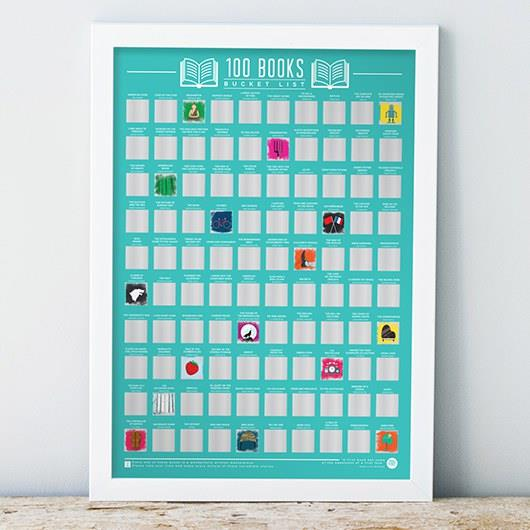 Bucket List 100 Books Poster