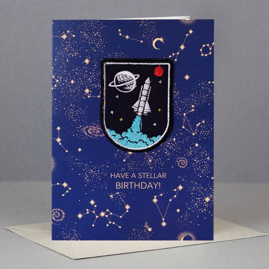 Spaceship Patch Card
