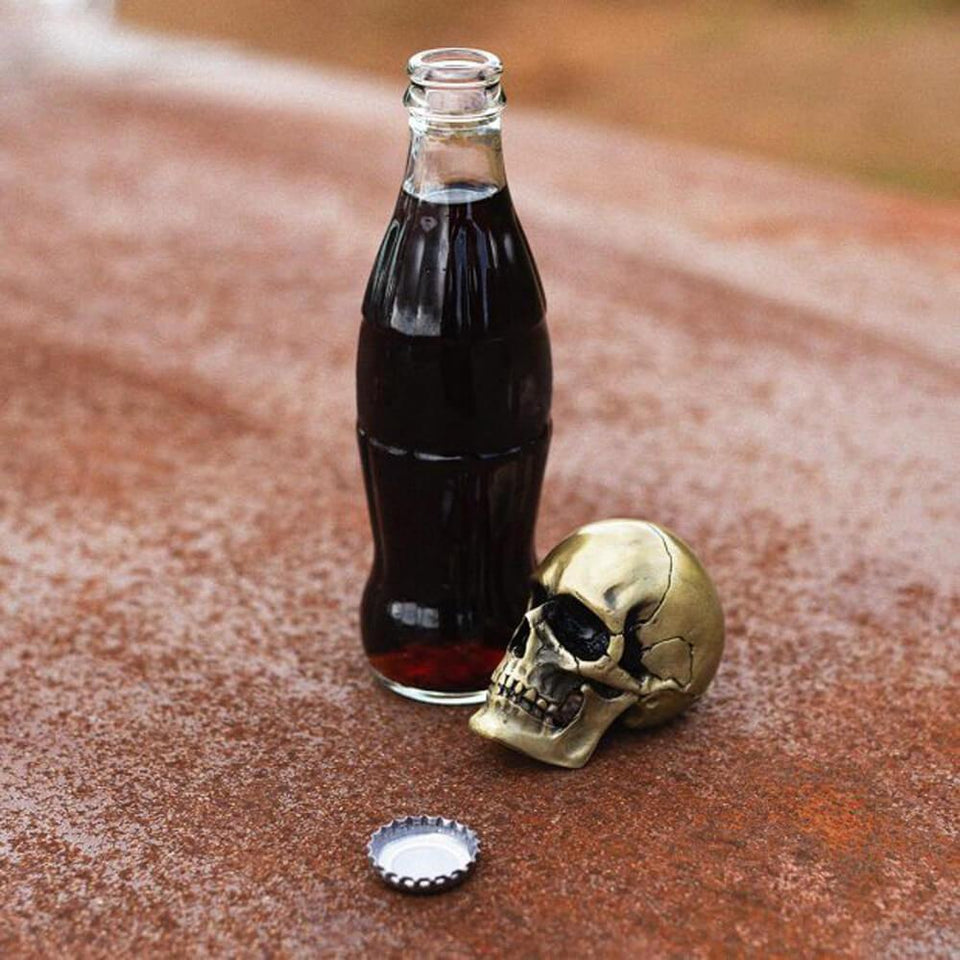 Crack One Open Skull Bottle Opener