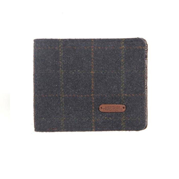 Tweed Wallet In Blue Box Tweed