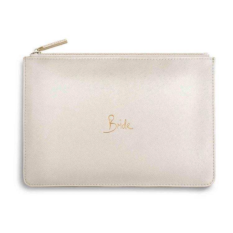 Bride Metallic White Clutch | Perfect Pouch