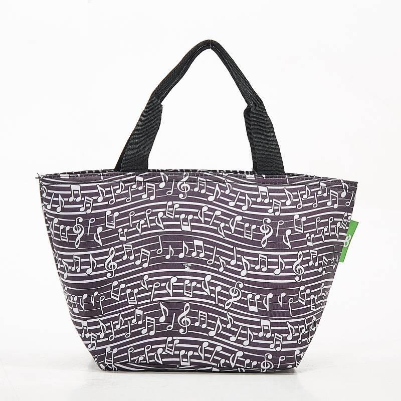 Black Music Notes  Lunch Bag