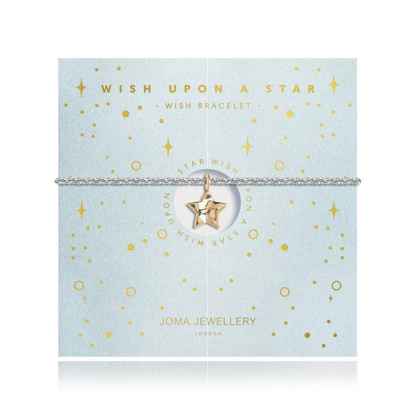 Yellow Gold Wish Star Charm Bracelet