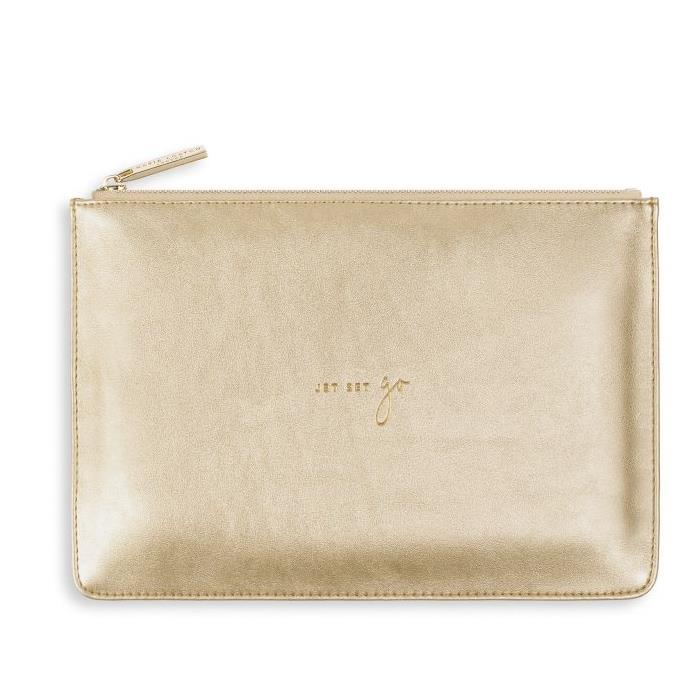 Jet Set Go Gold Perfect Pouch