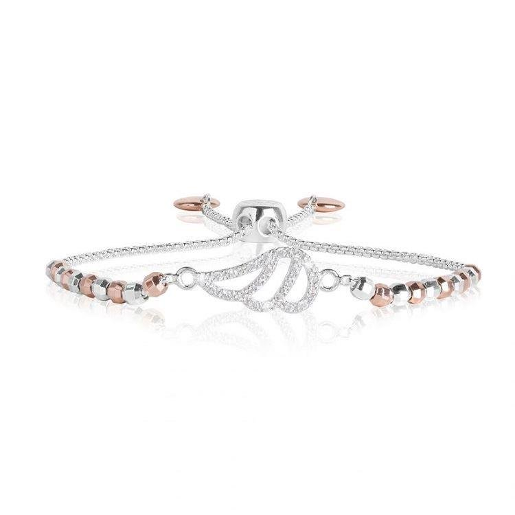 Amulet Silver & Rose Gold Angel Wing Bracelet