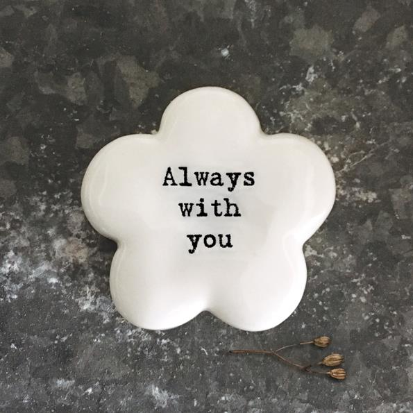 Always With You Porcelain Flower Token