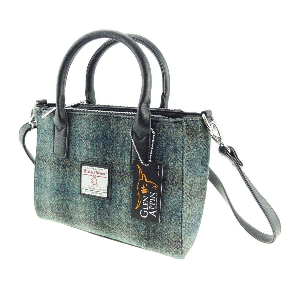 Harris Tweed Brora Tote in Moss Green