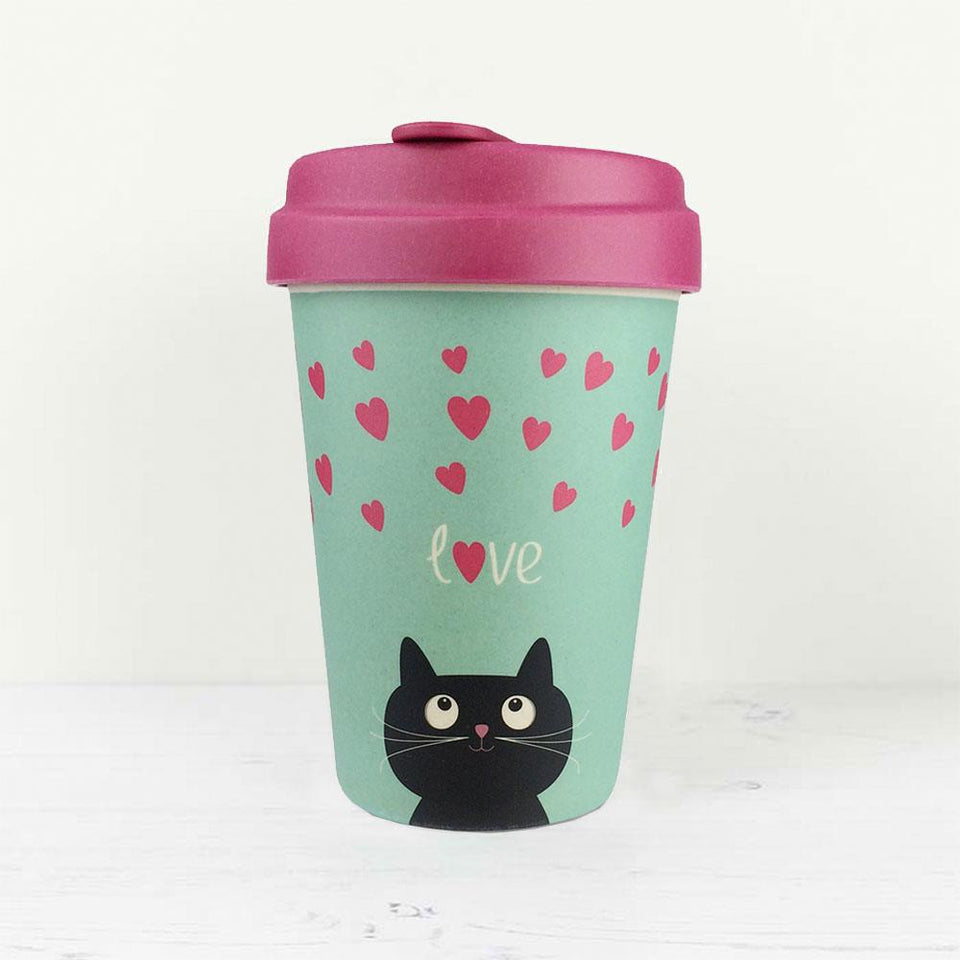 Love Kitty Bamboo Travel Cup