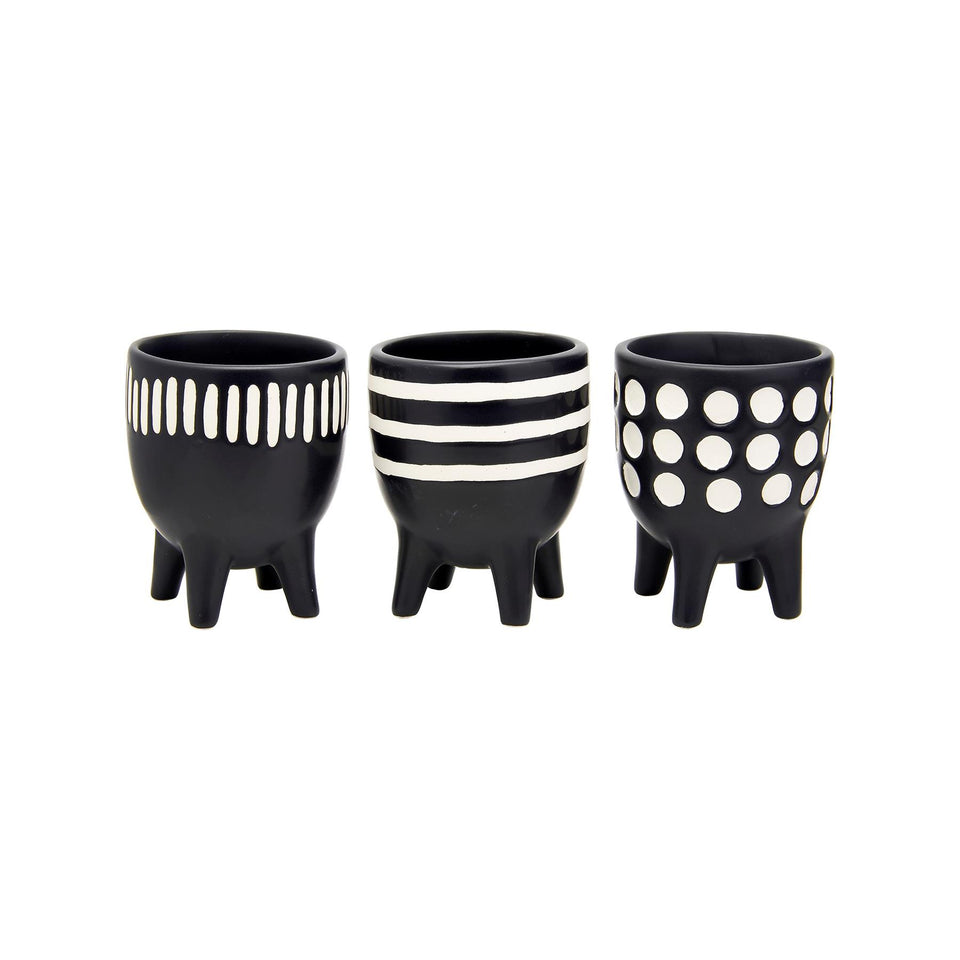 Scandi Boho Little Planters on Legs - Set of 3