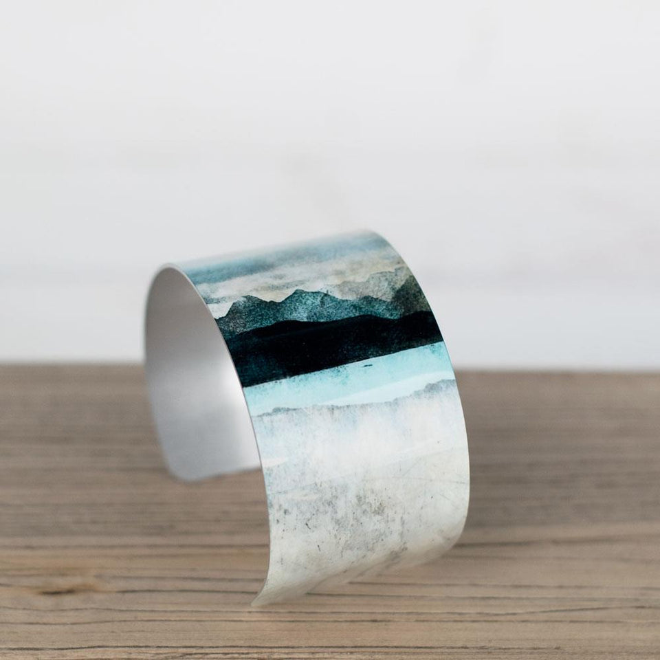 Skye From Bealach  Aluminium Cuff Bangle