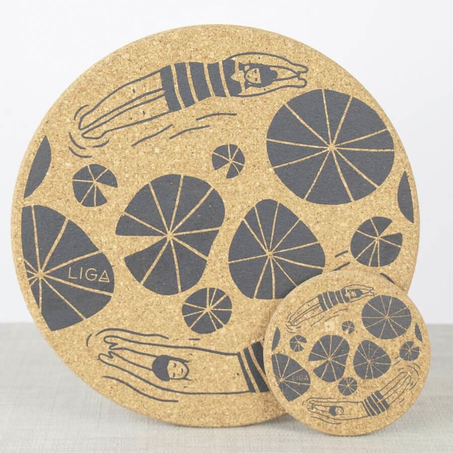 Wild Swimmers Cork Placemat Set