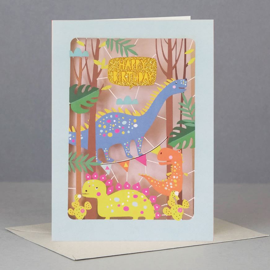Dinosaur Kids Birthday Card