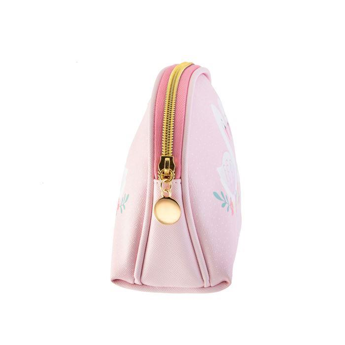 Pink Freya Swan Cosmetic Bag