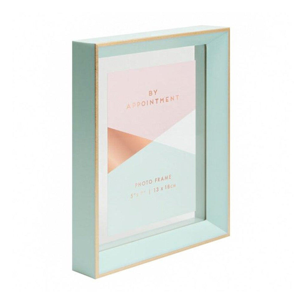 By Appointment Green & Gold Photo Frame