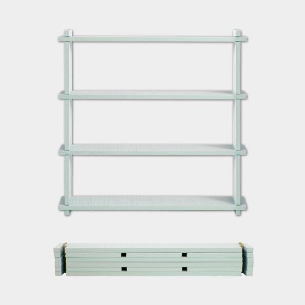 Slot Together Pale Green Shelf